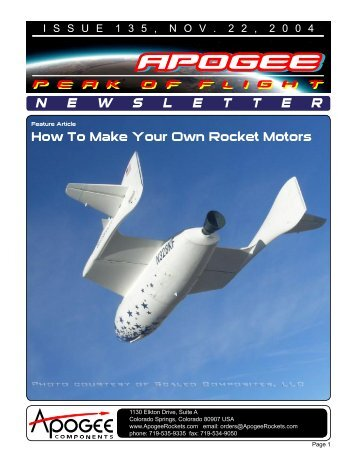 How To Make Your Own Rocket Motors - Apogee Components