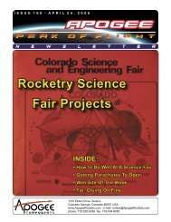 Rocketry Science Fair Projects - Apogee Components