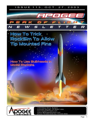 Fins - Apogee Components