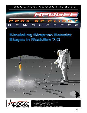 Simulating Strap-on Booster - Apogee Components