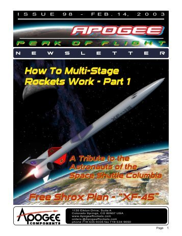 How To Multi-Stage Rockets Work - Apogee Components