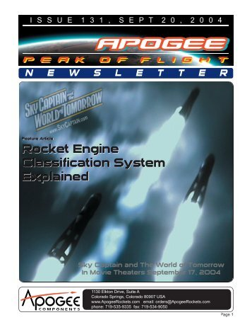 Rocket Engine Classification System Explained - Apogee Components