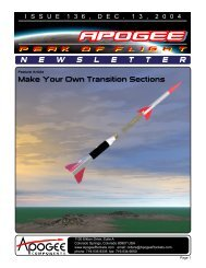Make Your Own Transition Sections N E W S L E T T E R - Apogee ...
