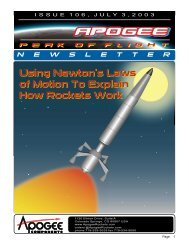Using Newton's Laws of Motion To Explain How - Apogee ...