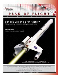 Peak-of-Flight Newsletter 220 - Apogee Components