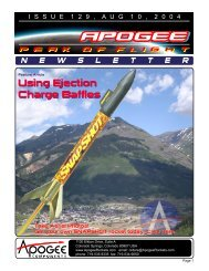 Using Ejection Charge Baffles Using Ejection Charge Baffles
