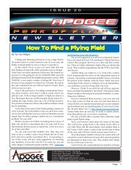 How To Find a Flying Field - Apogee Components