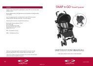 SNAP n GO Travel System - Babylove