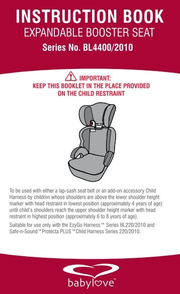 EXPANDABLE BOOSTER SEAT - Babylove
