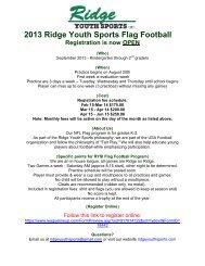 2013 Ridge Youth Sports Flag Football