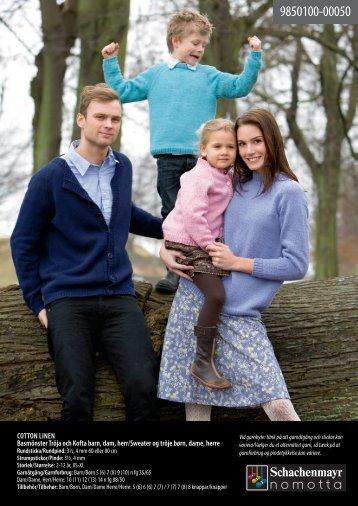 Cotton Linen Basmönster tröja och Kofta barn ... - Coatscrafts.com