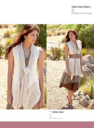 Cotton Linen Stripes  Cotton Linen - Coats HP