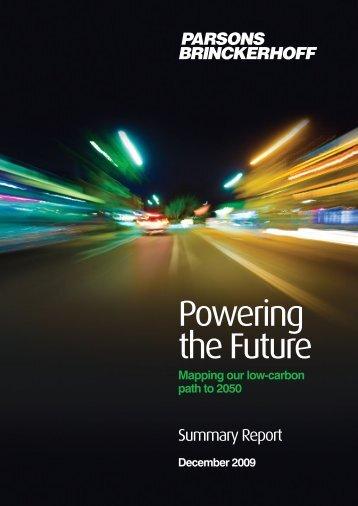 Powering the Future Summary Report - Parsons Brinckerhoff