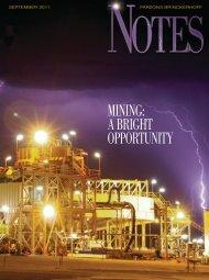 Mining: A Bright OppOrtunitY - Parsons Brinckerhoff