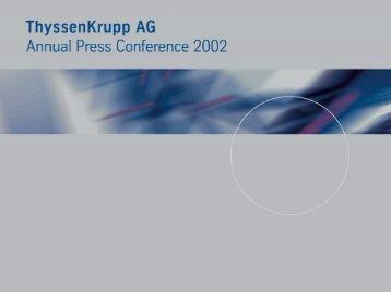 Annual Press Conference 2002