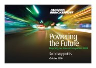 Powering the Future - Summary Points