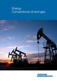 Energy Conventional oil and gas - Parsons Brinckerhoff