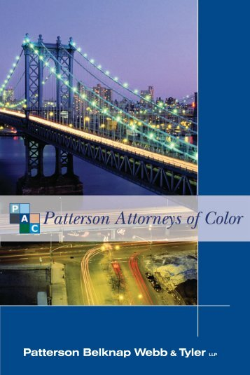 Patterson Attorneys of Color Brochure 2010 - Patterson Belknap ...