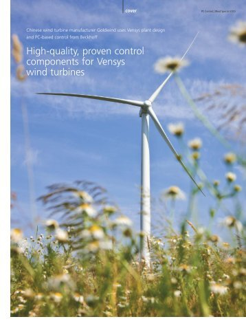 Chinese wind turbine manufacturer Goldwind uses ... - PC-Control
