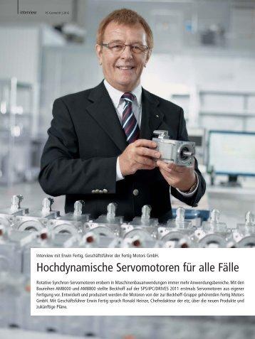 Interview mit Erwin Fertig, Geschäftsführer der Fertig ... - PC-Control