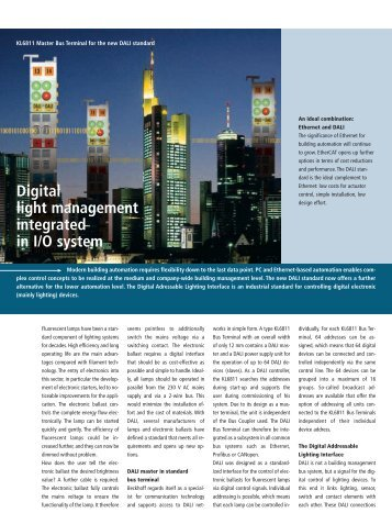 Digital light management integrated in I/O system (PDF) - PC-Control