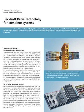 Interview with Hans Beckhoff: AX5000 Servo Drives ... - PC-Control