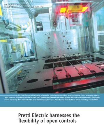 Prettl Electric harnesses the flexibility of open controls - PC-Control
