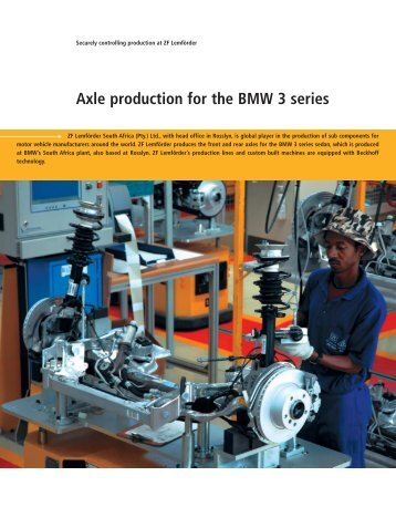 Axle production for the BMW 3 series - PC-Control