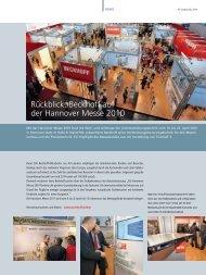 Rückblick: Beckhoff auf der Hannover Messe 2010 (PDF) - PC-Control