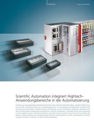 Scientific Automation integriert Hightech ... - PC-Control