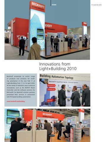 Innovations from Light+Building 2010 (PDF) - PC-Control