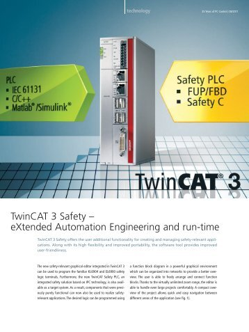 TwinCAT 3 Safety – eXtended Automation Engineering ... - PC-Control
