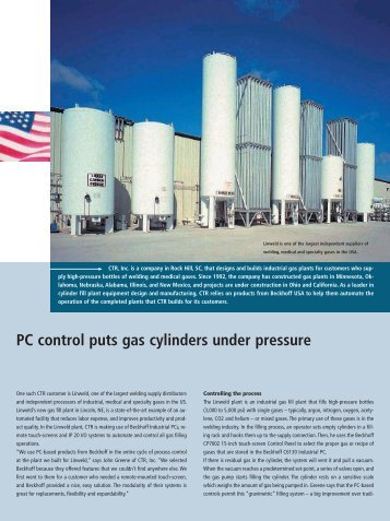 CTR Inc. automates gas plants with Beckhoff system ... - PC-Control