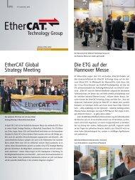 Neuigkeiten und Aktivitäten der EtherCAT Technology ... - PC-Control