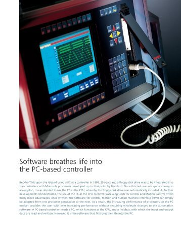 Software breathes life into the PC-based controller - PC-Control
