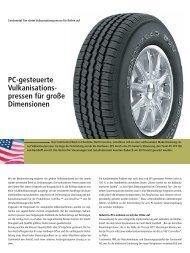 Continental Tire rüstet Vulkanisationspressen für ... - PC-Control