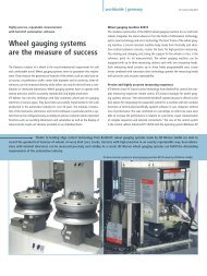 Wheel gauging systems are the measure of success - PC-Control