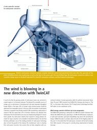 The wind is blowing in a new direction with TwinCAT - PC-Control