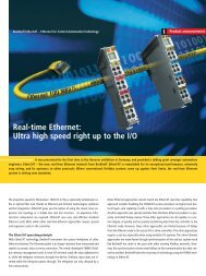 Real-time Ethernet: Ultra high speed right up to the I/O - PC-Control