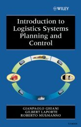 Introduction to Logistics Systems Planning and Control - Pc-Freak.Net