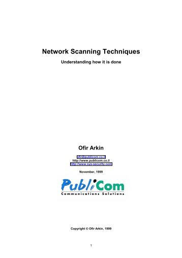 Network Scanning Techniques - Dartmouth CS Home Page