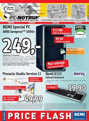 BEMI Computer Marketing GmbH - PC-Notruf