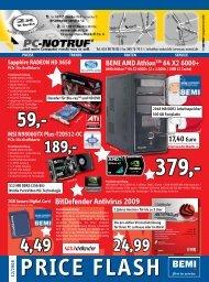 BEMI Computer Marketing GmbH Price Flash 12/2008 - PC-Notruf