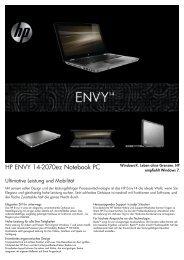 PSG Consumer 2C11 HP Notebook Envy Datasheet