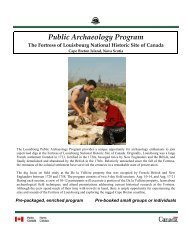 Fortress of Louisbourg Public Archaeology Program