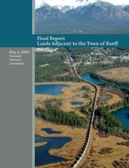 Lands Adjacent to the Town of Banff Final Report