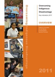Overcoming Indigenous Disadvantage: Key Indicators 2011