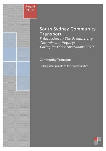 South Sydney Community Transport - Productivity Commission
