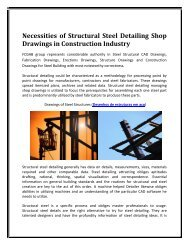 Necessities of Structural Steel Detailing Shop Drawings in Construction Industry