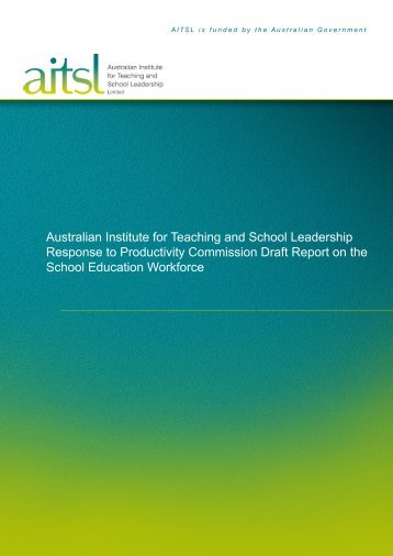 Australian Institute for Teaching and School Leadership (AITSL)